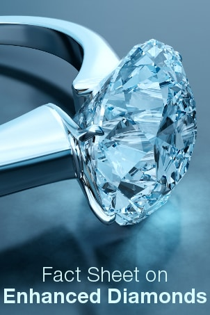 Fact Sheet on Enhanced Diamonds from Overstock™. A diamond labeled as clarity enhanced has undergone one or more of the treatments outlined in this guide.