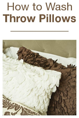 How to Wash Throw Pillows Overstock.com
