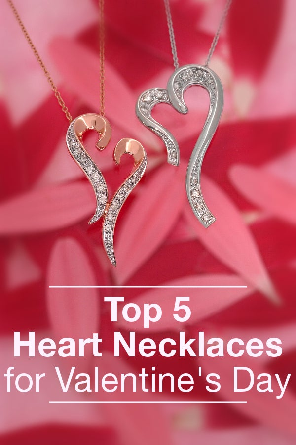 If you're thinking about giving a heart necklace for Valentine's Day, consider one of these styles