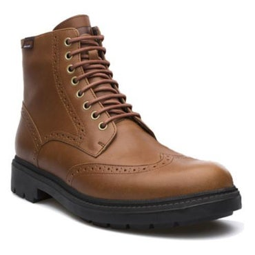 Brown, thick-sole boot