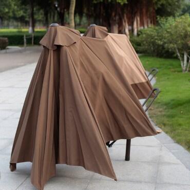 Brown patio umbrellas