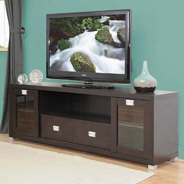 Dark brown, wooden TV stand