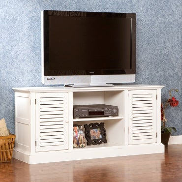 White, wooden TV stand
