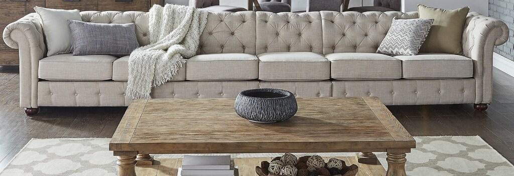 Cream sofa traditional living room style