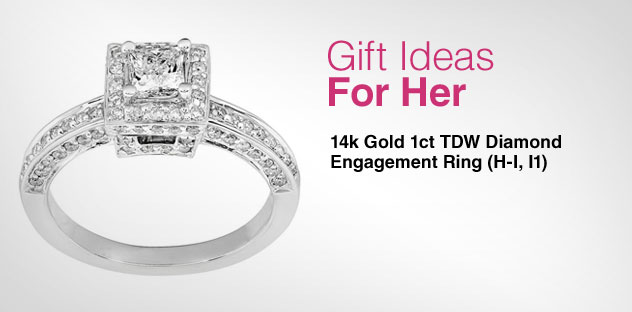 Gift Ideas for Her - Day 12 - 14k Gold 1ct TDW Diamond Engagement Ring (H-I, I1)