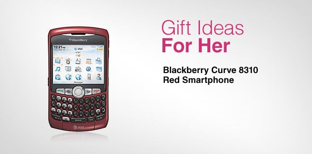 Gift Ideas for Her - Day 5 - BlackBerry Curve 8310 Red Smartphone