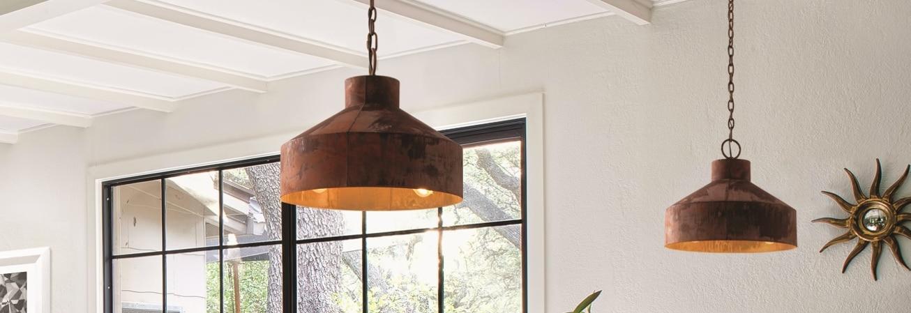 Copper pendant ceiling lights