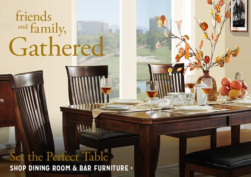 Friends & Family Gathered - Set The Perfect Table - Shop Dining Room & Bar Furniture
