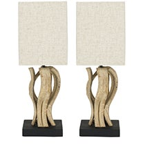 Bleached Wood Vine Lamps