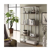 Chrome Metal Bookcase
