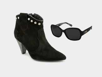 Chic Boots and Sunglasses