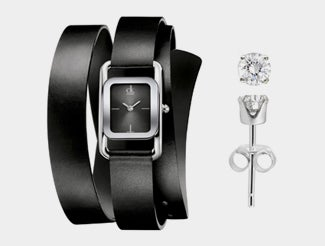 Chic Watch and Earrings