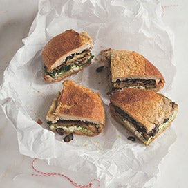 Press-To Pesto Picnic Sandwiches