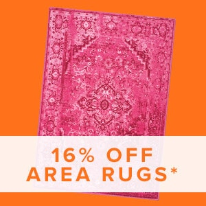 16% Off Area Rugs