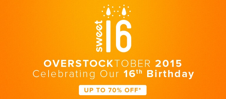 Overstock Sweet 16 - Celebrating Our 16th Anniversary