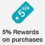 5% Rewards on purchases