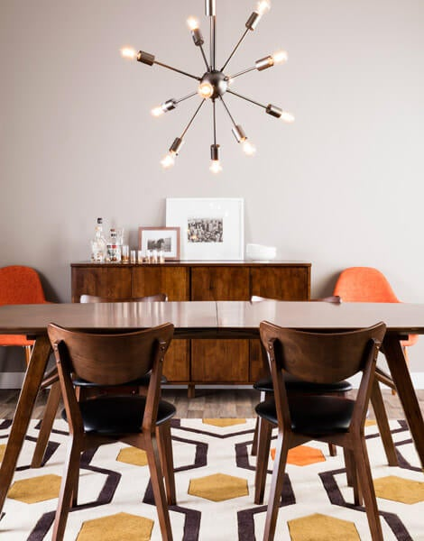 Dining room chairs mid century modern