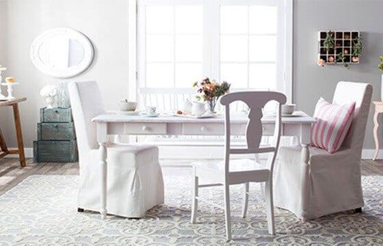 Shabby Chic Dining Room Farmhouse Table