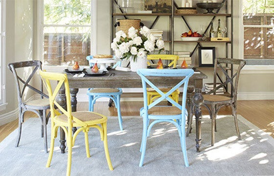 Shabby Chic Dining Room Mismatched Seating