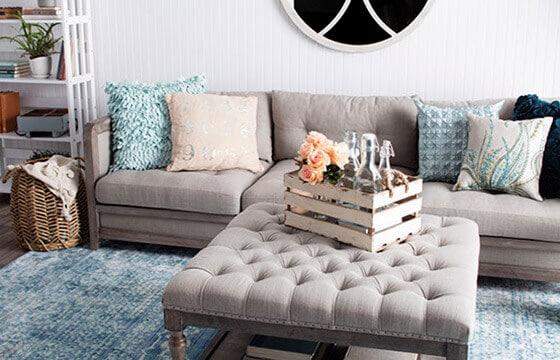 Shabby Chic Living Room Linen Items