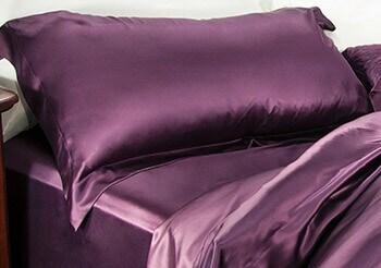 purple silk luxury sheets