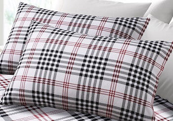6 ounce plaid flannel sheet set