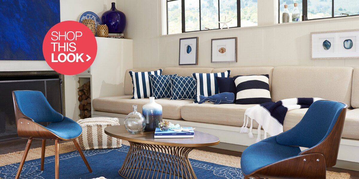 Coastal Home Decor i Coastal Living Room Ideas