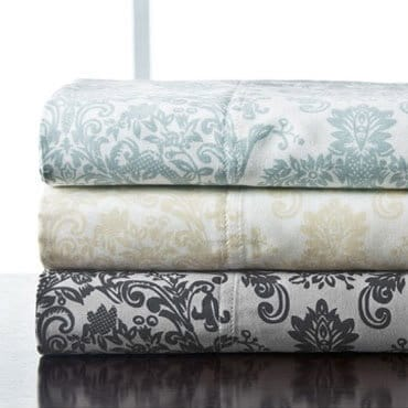 Stack of cotton sheets