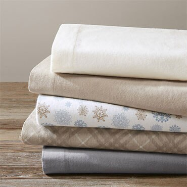 Stack of flannel sheets