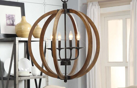 image result for wooden orb chandelier overstock