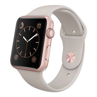 Apple watch rose gold aluminum smartwatch with stone band