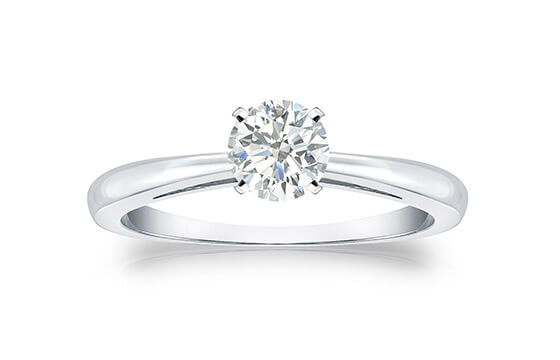 Auriya Platinum 1/3ct TDW Round-cut Diamond Solitaire Engagement Ring