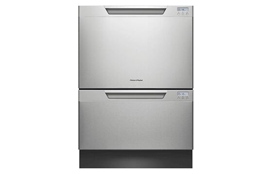 Double drawer dishwasher in stainless steel