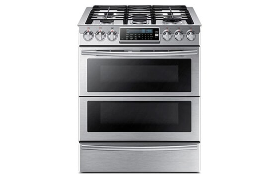 Samsung 30-inch stainless steel dual fuel range