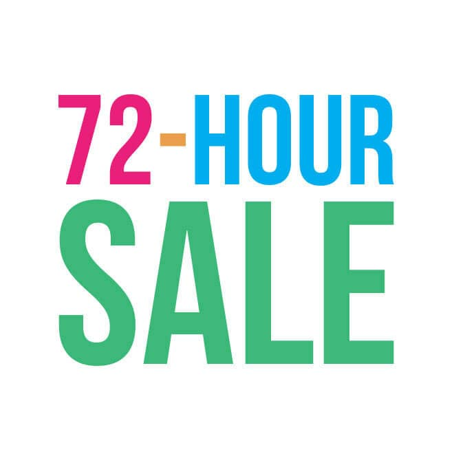 Up to 70% off 72 Hour Sale