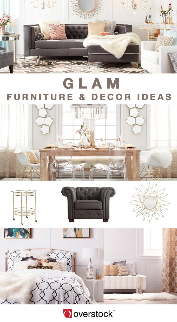 glamorous cheap living room wall decor | 16 Ways to Give Your Home A Glam Makeover - Overstock.com