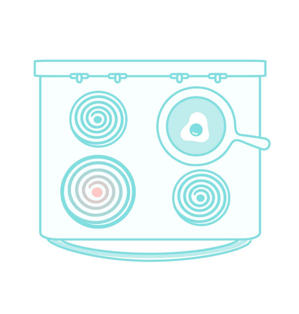 Illustration of an induction range
