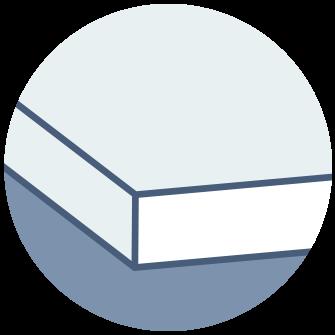 Close up of illustration of foam mattress