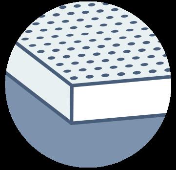 Illustration of latex foam mattress