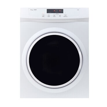 White stainless steel compact dryer