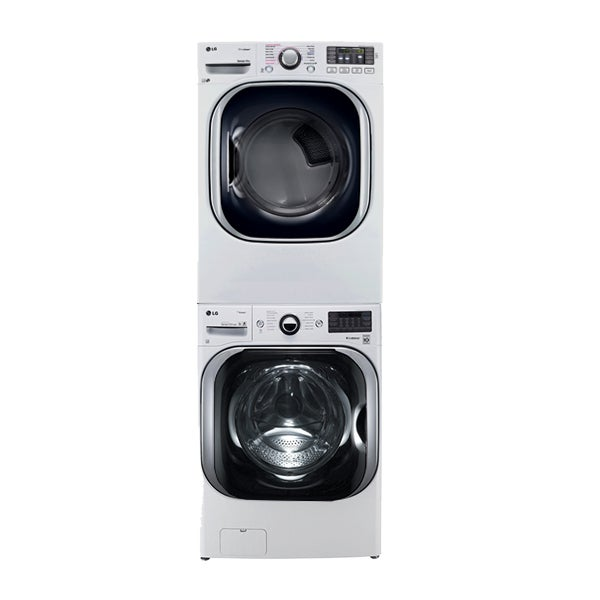 Stackable LG dryer with steam technology in white