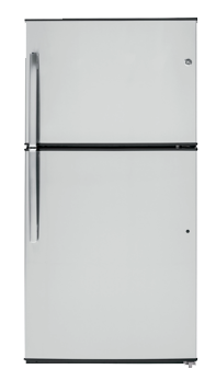 GE energy star stainless steel top freezer refrigerator