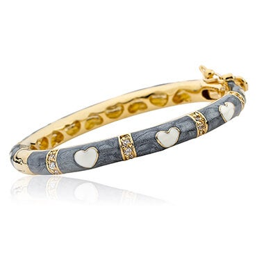 Gold and grey bangle baby bracelet