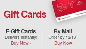 Gift Cards: E-Gift Cards Deliver Instantly!