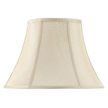 Tan bell shaped lamp shade