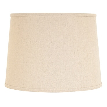 Off-white linen lamp shade