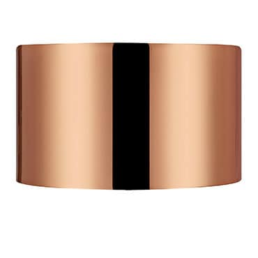 Metallic bronze lamp shade