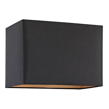 Black rectangle lamp shade