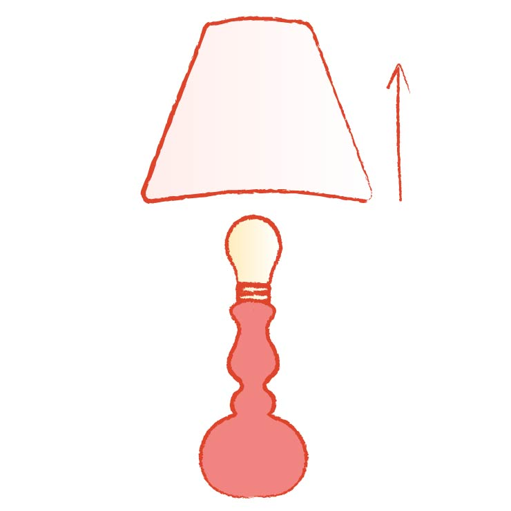 Illustration removing a lamp shade