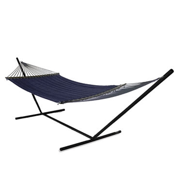 Quilted navy hammock